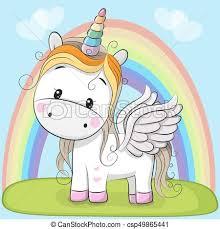 imagenes de unicornios en caricatura lindo caricatura pradera unicornio lindo caricatura vector