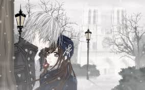 wallpaper anime lovers anime lovers in the park romantic winter time