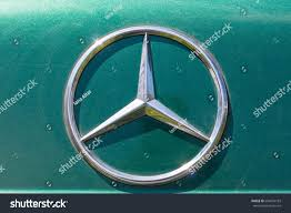 mercedes logo ustkamenogorsk kazakhstan july 18 2017 close stock photo 698494183
