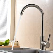 single kitchen sink faucet modern and cold mixer single handle brushed steel kitchen sink