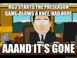 Rgiii Memes - robert griffin iii s knee injury met with memes twitter outrage