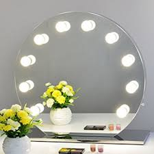 Mirror With Light Amazon Com Chende Frameless Hollywood Makeup Vanity Mirror With