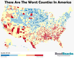 Atlanta County Map These Are The 10 Worst Counties To Live In America Roadsnacks