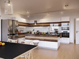 apartment gorgeous and graceful look of wood tones and white