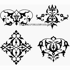 ornament vectors various forms karakalem