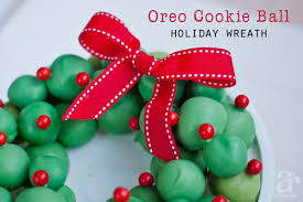oreo cookie balls wreath recipe for the holiday season anders
