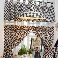 Tab Top Valance Mackenzie Childs Courtly Check Tab Top Cafe Valance