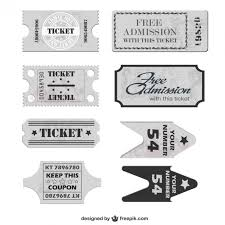 tickets template free vector free vectors pinterest ticket