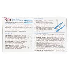home pregnancy test one line dark other light first signal one step pregnancy test walmart com