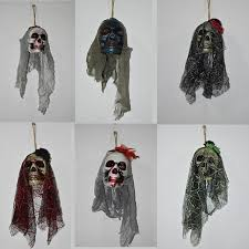 2017 halloween scary skull hanging ornaments ghost skeleton prop