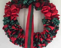 ribbon wreath etsy