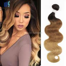 ombre weave t4 30 27 brown ombre human hair weave bundles