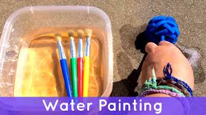 water painting toddler and preschool activity youtube