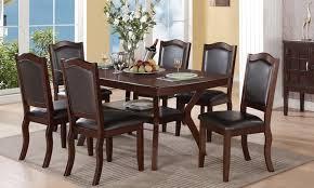 seven piece espresso dining set bayit furniture groupon