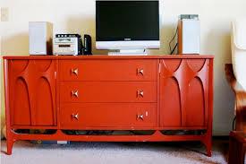 Midcentury Modern Tv Stand - red mid century modern tv stand decorating ideas mid century