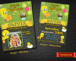instant download tweety bird invitation tweety bird