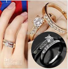 rings crystal swarovski images Jewelry wedding band simulated diamond rings 18 k gold plating jpg
