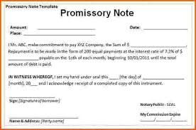 sample of a promissory note agreement