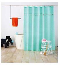 Threshold Aqua Peach Birds Floral Kids Pillowfort Tassel Fabric Shower Curtain 72x72 Nwop 44 Ebay