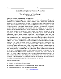 reading comprehension grade reading worksheets eighth grade reading worksheets