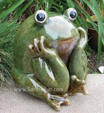 garden frog statue toad hollow toad boot brush with replaceable