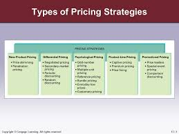 types and prices copyright cengage learning all rights reserved types of pricing