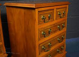 Yew Filing Cabinets Pair Of Georgian Style Yew Bedside Cabinets Antiques Atlas