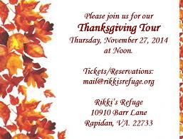 thanksgiving day tour rikki s refuge animal sanctuary