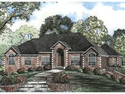 corner house plans leroux brick ranch home plan 055s 0046 house plans and more