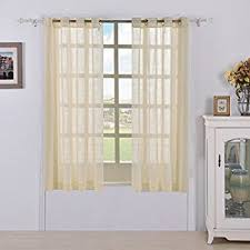 Drapes Grommet Top Amazon Com Nicetown Sheer Curtains Grommet Top Solid Voile