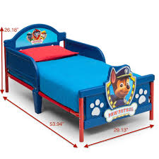 nickelodeon paw patrol 3d toddler bed toys