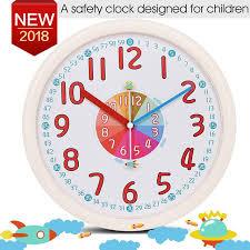 horloge chambre bébé 12 pouce enfant en plastique horloge murale bébé pépinière pas de
