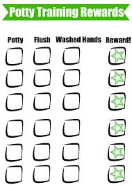 potty training reward method free chart beauty through