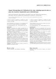 chambres implantables etapes de la pose de la chambre implantable research diagram
