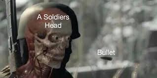 Mmm Whatcha Say Meme - this meme about a bullet and a skeleton is a metaphor for everything