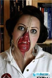 Scary Costumes Halloween Zipper Face Scary Faces Zipper Face