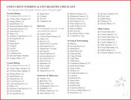 list for wedding registry awesome printable wedding registry checklist photos styles