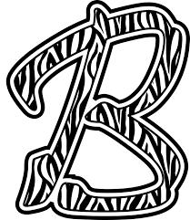 zebra print letters printable clipartsco cover letter example