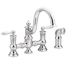 moen s713 waterhill two handle high arc kitchen faucet chrome