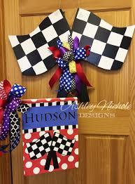 Flags In Nascar Ships Now Nascar Race Flag Door Hanger Door Decoration