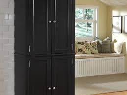 Wooden Kitchen Pantry Cabinet by Kitchen Kitchen Pantry Cabinets 7 Rustic Black Wooden Kitchen
