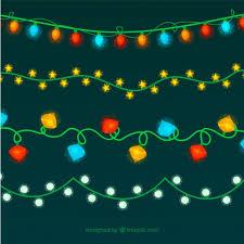 nice retro christmas lights vector free download