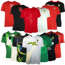 ferrari clothing men mens puma sf scuderia ferrari formula 1 one replica t shirt top