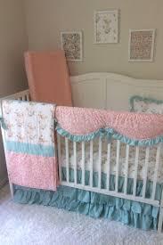 Pink And Aqua Crib Bedding Decor Surprising Best Anchor Crib Bedding With New 2018
