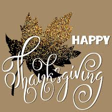 happy thanksgiving day white lettering on golden background