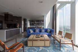 dining room at the modern penthouse ecopark an urban oasis filled with greenery and grandeur