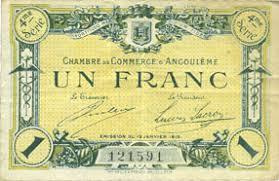 chambre du commerce angouleme banknotes emergency notes angoulême 16 chambre de commerce
