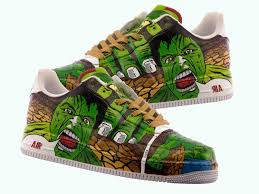 hand crafted hulk hand painted shoes comic shoes incredible hulk