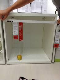 eket hack ikea bed hack malm cube wall shelves box with door organizer