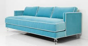www roomservicestore com down with love sofa in aqua velvet